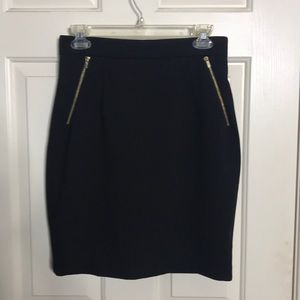 Black Skirt with Gold zippers